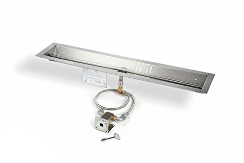 Hearth Products Controls MLFPK36-TRGH-FLEX-NG Match Light Natural Gas Fire Pit Kit 36-Inch Linear Pan