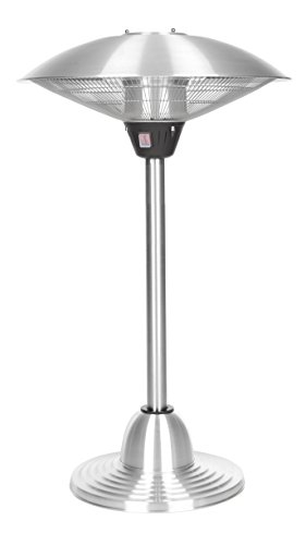 Fire Sense Indooroutdoor Infrared Tabletop Heater And Stand Stainless Steel