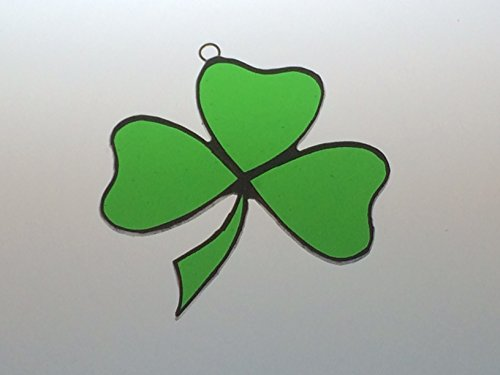 Handcrafted Green Shamrock Suncatcher Stained Glass Ornament