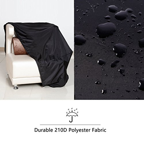 OUTAD Outdoor Garden Furniture Cover Shelter Waterproof for Patio Table Chair Seat Sofa Set Cover BBQ Rectangular Oxford Black 210D 84Inch L