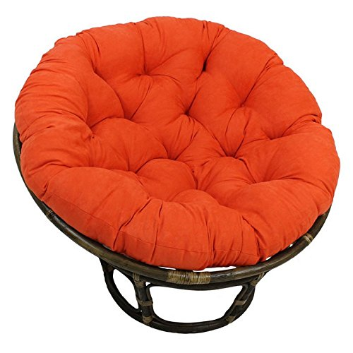 Rattan 42-Inch Papasan Chair with Micro Suede Cushion
