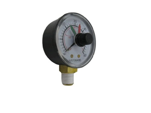 Hayward DECX271261 Boxed Pressure Gauge with Dial Replacement for Select Hayward Filter and Multiport Valve