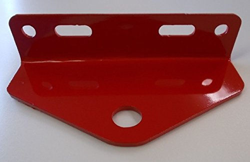Universal Zero Turn Mower Trailer Hitch 5&quot Outside Holes Centers-red