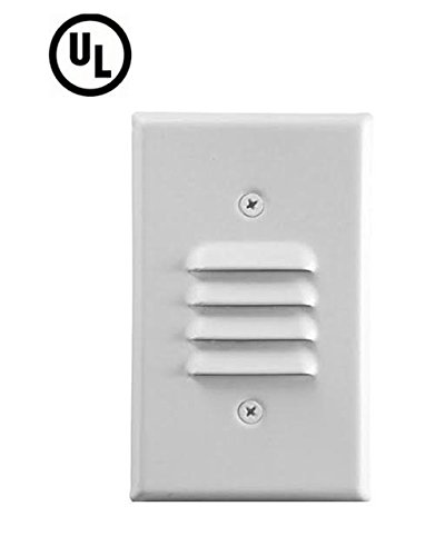 Sunco Lighting Led Mini Outdoor And Indoor Stepstair Light With Both Vertical And Horizontal Louvered Wall Plates