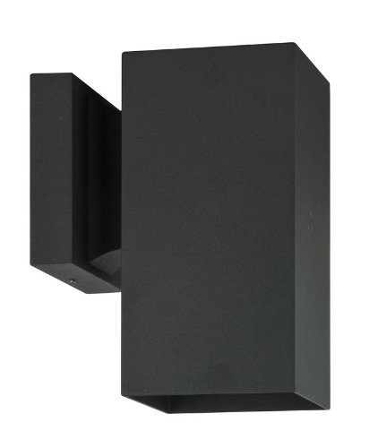 Sunset Lighting F6891-31 Architectural - One Light Square Outdoor Wall Mount Black Finish