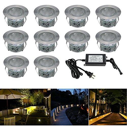 Low Voltage Led Deck Lighting Kit Stainless Steel Waterproof Outdoor Landscape Garden Yard Patio Step Decoration