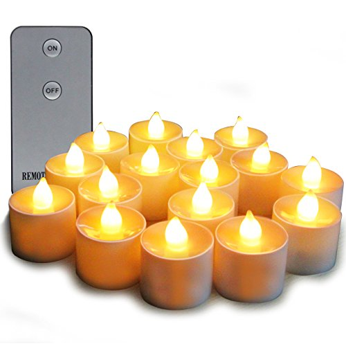 Electric Candles Flameless Tea Candles Glowing Color with Remote control and Timer Perfect Realistic Battery-Powered Decoration Parties Events Tea Light Candles 24Pack