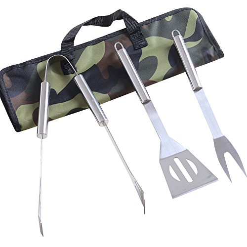 Chichic Grilling Accessories Bbq Utensils Barbecue Tool Sets Bbq Accessories Stainless Steel Grilling Tong