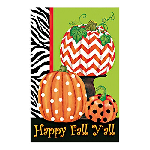 Double Sided Decorative Custom Flag Happy Fall Yall-novelty Pumpkin Fade And Mildew Resistant Waterproof Garden