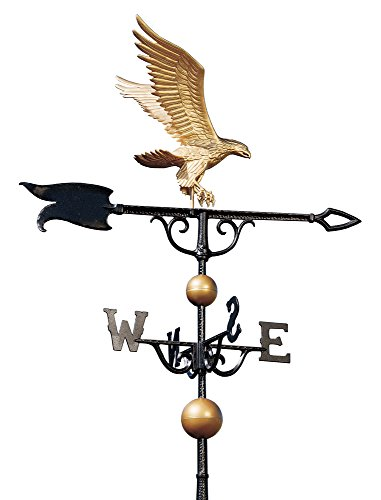 Whitehall Products Eagle Weathervane, 46-inch, Gold/bronze