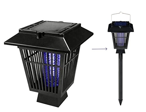 NEW JJMG Electric Bug Zapper Fly Swatter Zap Mosquito Zapper Gnats Zapper Best for Indoor and Outdoor Pest Control Solar Bug zapper