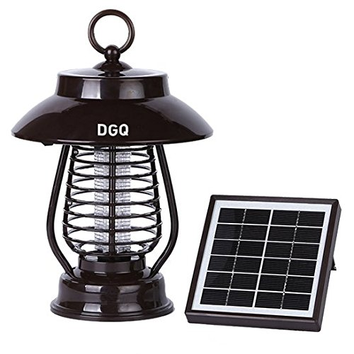 Dgq Solar Powered Insect Pest Mosquito Bug Killer Zapper Trap  16 Led Lamp Light Function  Solar Charging Function
