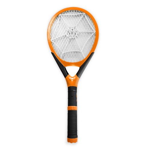Rechargeable Handheld Mosquito Wasp Bug Fly Zapper Electric Swatter with Detachable Flash Light