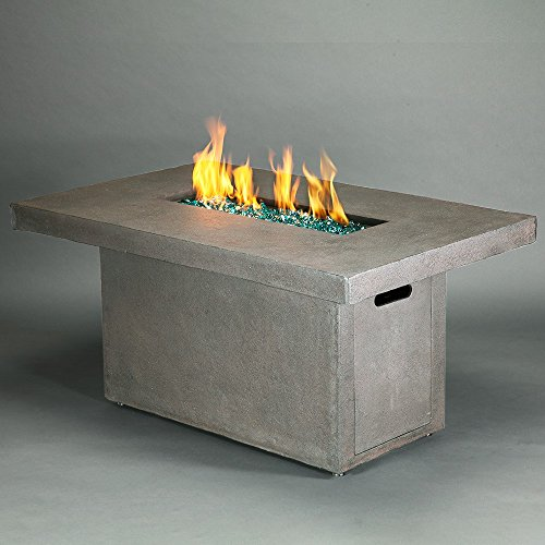 Brixton Rectangle Propane Fire Table - Concrete Gray