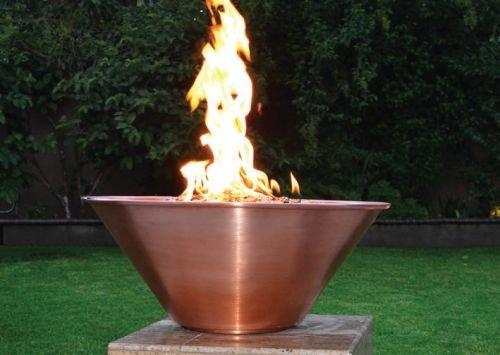 24&quot Copper Round Fire Bowl