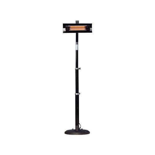 Fire Sense Telescoping Infrared IndoorOutdoor Patio Heater Black