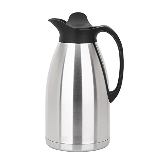 European simple vacuum flask Stainless steel vacuum flask Hot water bottle Office Household use Outdoor heating kettle3L large capacity hot kettle-A 155x32cm6x13inch