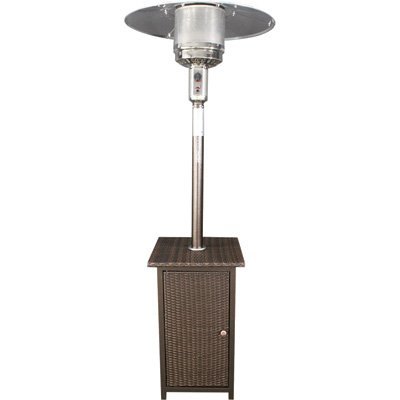 HomComfort Outdoor Propane Heater with Wicker Stand - 41000 BTU Model Number HCPHWKR