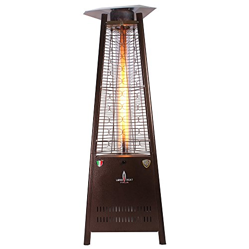 Lava Heat Italia Cylindrical Collapsible 6 ft Commercial Flame Patio Heater LHI-107 - Brushed Copper - Natural Gas