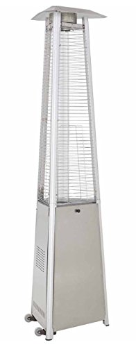 True Commercial Stainless Steel 3-sided Pyramid Style Quartz Tube Patio Heater With Wheels lp Propane