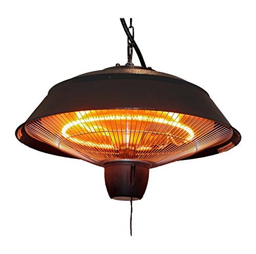 Ener-g Infrared Outdoor Ceiling Electric Patio Heater Hammered Brown