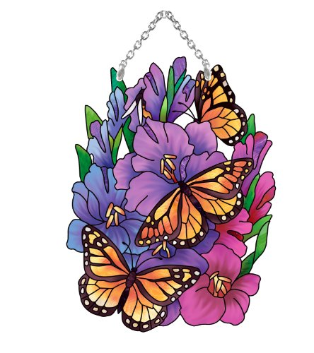 Joan Baker Designs SSD1007R Butterflies Suncatcher 425 by 625-Inch OrangeBlue