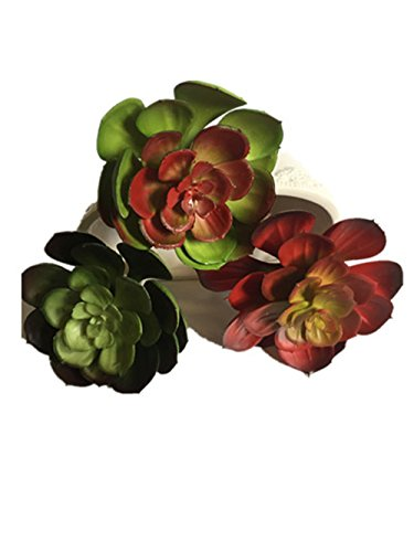 Lucky Six 6&quot Artificial Succulent Plantsset Of 3