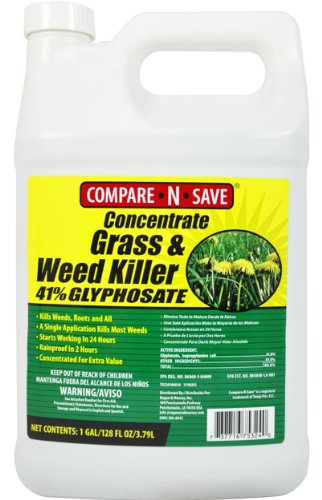 Compare-n-save Concentrate Grass And Weed Killer 41-percent Glyphosate 1-gallon