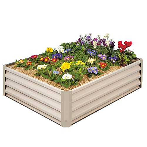 Metal Raised Garden Bed Kit - Elevated Planter Box For Growing Herbs Vegetables Flowers and Succulents 2