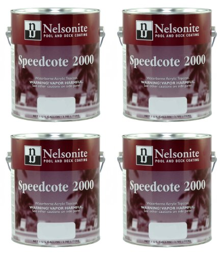 Swimming Pool Paint Speedcote 2000 4 Gallons Bahama Blue 43-402 - 4PACK