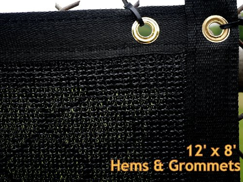 8x12 Black Fence Privacy Screen Windscreen Mesh With Grommets