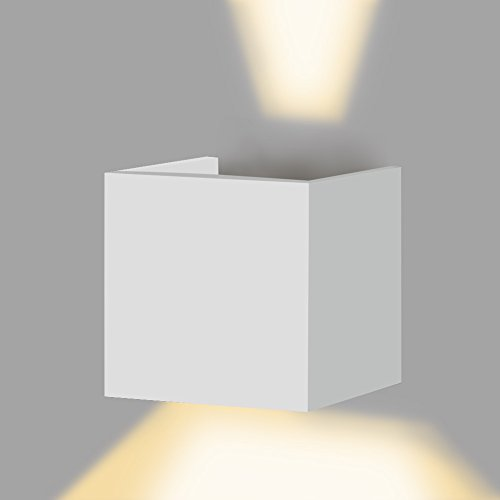 Awakingdemi 7W Led Wall Sconces Wall Lights IP67 Surface Mounted Outdoor Cube Lamp Waterproof Up Down White Warm White