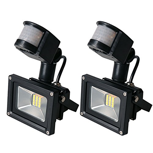 2PCS 20W High Power SMD Motion Activated LED Floodlight with PIR IP65 Warm White Waterproof Security Sensor Flood Light Outdoor Garden Lighting