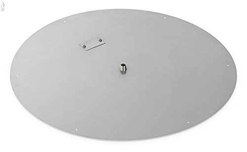 American Fireglass Round Stainless Steel Flat Fire Pit Burner Pan 30-Inch