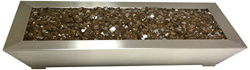 American Fireglass Stainless Steel Paramount Pan Burner 18-inch Width By 10-inch Depth By 4-inch Height