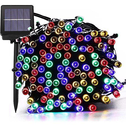 72ft 200 Led Solar Outdoor String Lights Fairy Outside Lighting Yard Patio Decoration 8 Mode steady Flash