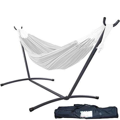 LazyDaze Hammocks 9 feet Space Saving Steel Hammock Stand with Carrying Bag