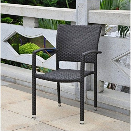 Barcelona Contemporary Resin Wicker Patio Chair Set