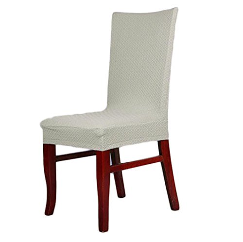 Gotd 1pc Dining Chair Covers Spandex Strech Dining Room Chair Protector Slipcover Decor gray