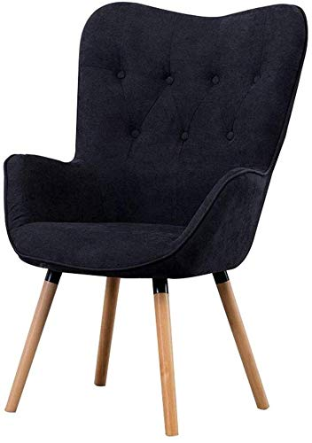 CWJ Home Furniture Barstools Portable Lazy ChairBedroom ChairSofa Bench Balcony ChairCafe Hotel Reception Stool with Backrest Armrest Sponge ChairMaterial Casual High ChairA7074107CM