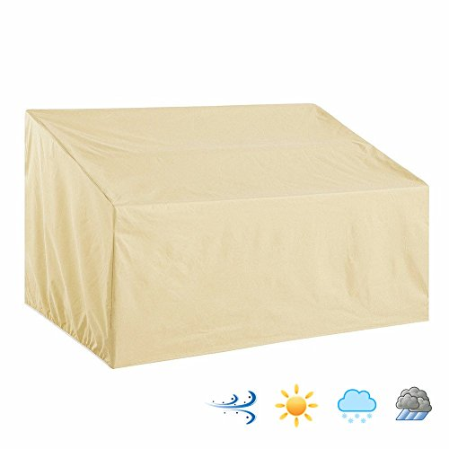 Patio Wicker Rattann Leisure Thick Sofa Covers Waterproof Outdoor All Weather Protection Beige Color medium