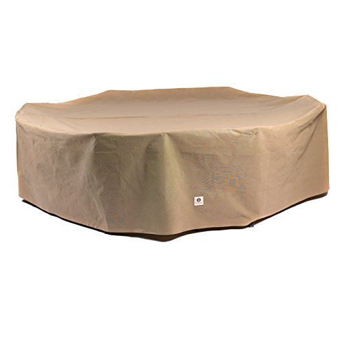 Duck Covers Essential RectangleOval Patio Table with Chairs Cover 96-Inch