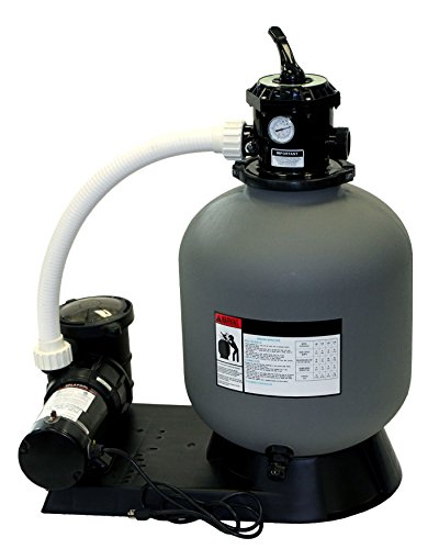 Rx Clear Radiant 19 Inch Above Ground Swimming Pool Sand Filter System w1 HP Pump