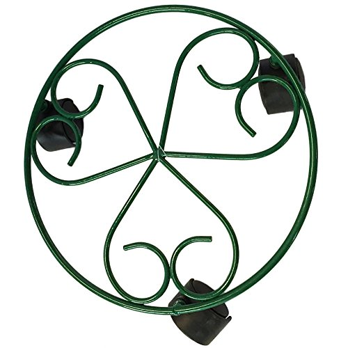 Amagabeli 10 Green Plant Caddy - Low Plant Stand with Wheels Plant Stand with Rollers Plant Dolly Planter Holders Flower Pots Stand Flower Pots Holder