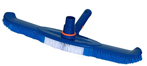 20&quot Pool Spa Brush And Vacuum Head Combo With Swivel Hose Cuffamp E-z Clip