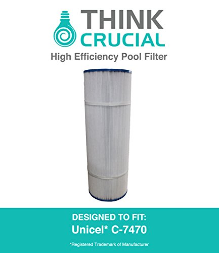 High Quality Pool Filter Replaces Unicel C-7470 and Pleatco PCC80 Premium Filtration 20 x 7 in by Think Crucial