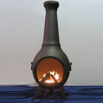 Aluminum Wood Prairie Chiminea Finish Charcoal