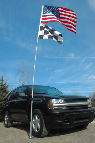 Flagpole To Go Tutp Ultimate Tailgaters Package With 1 Tire Mount - Aluminum