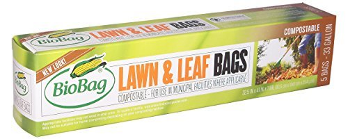 BioBag Lawn Leaf Compostable Bags 33 Gallon 5-Count Boxes Pack of 4 Size 5 Count Pack of 4 Model  Home Garden Store