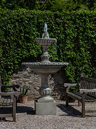 Campania International FT-256-AS Charleston Fountain Alpine Stone Finish